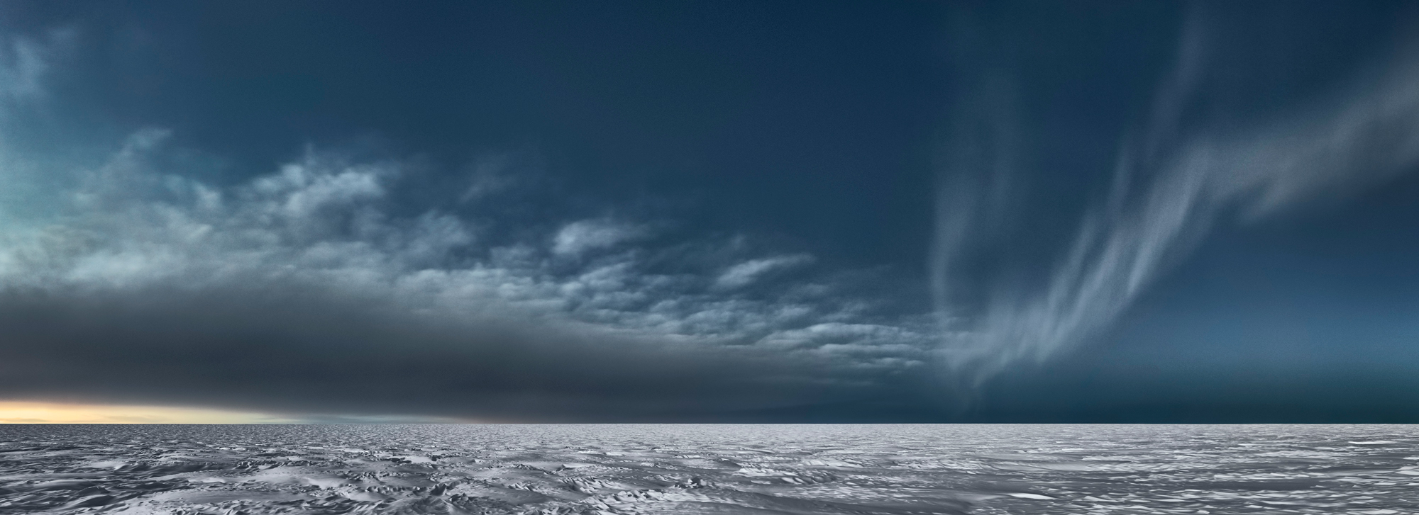 Icesheet #3373 cloud bank & aurora, 95cm x 261cm, Digital Pigment Print, Edition of 7, 2013