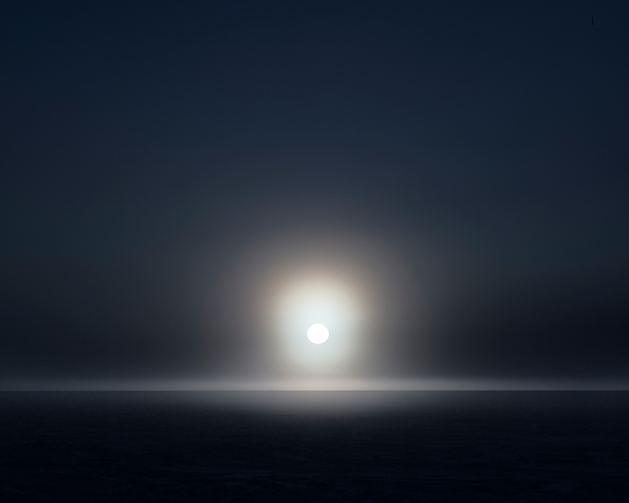 Icesheet #0712, late sun and fog, 120cm x 198cm, Digital Pigment Print, Edition of 7, 2013