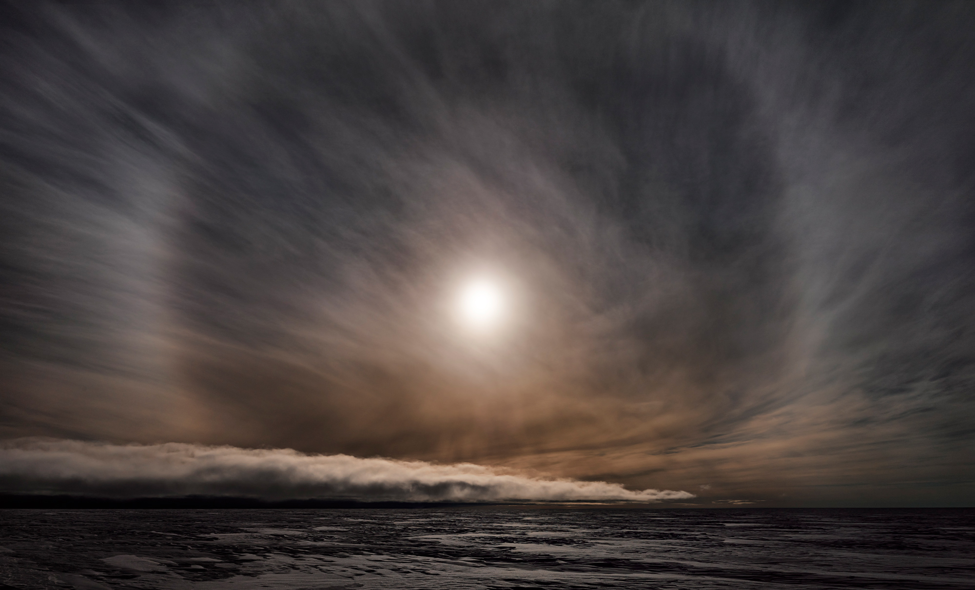 Icesheet #2564, late sun with 22˚ halo, 120cm x 198cm, Digital Pigment Print, Edition of 7, 2013