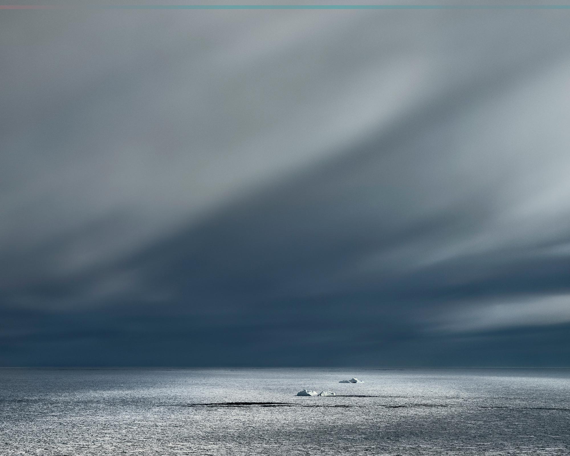 Icesheet #2868, sea ice with icebergs, 120cm x 198cm, Digital Pigment Print, Edition of 7, 2013